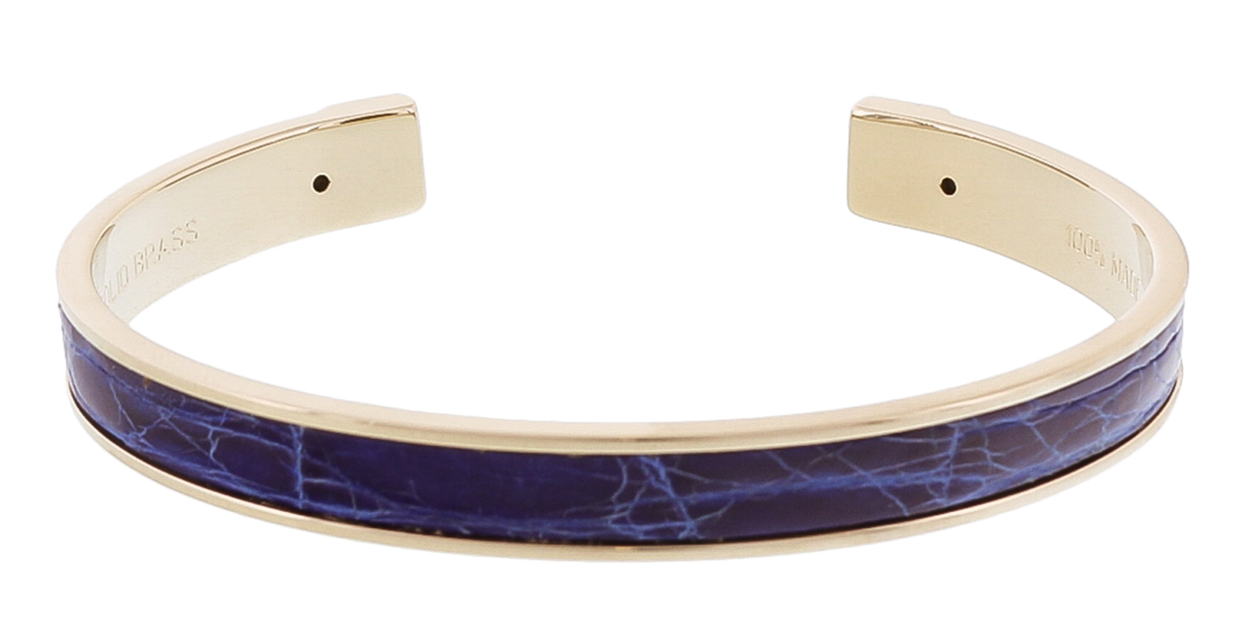 Stamerra PICCOLO CROCCO AZ Electric Blue Genuine Crocodile Bracelet