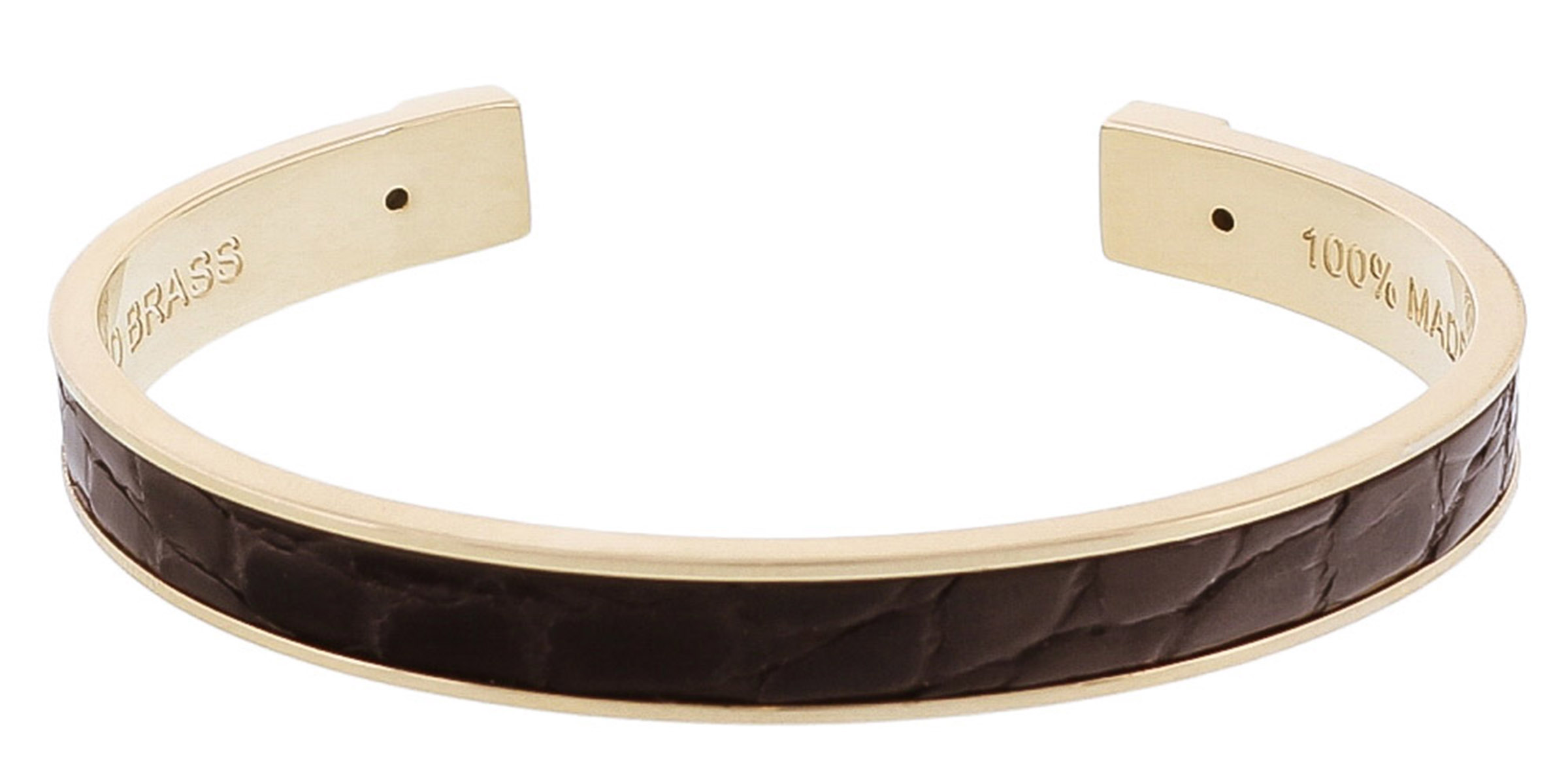 Stamerra PICCOLO CROCCO NR Black Genuine Crocodile Bracelet