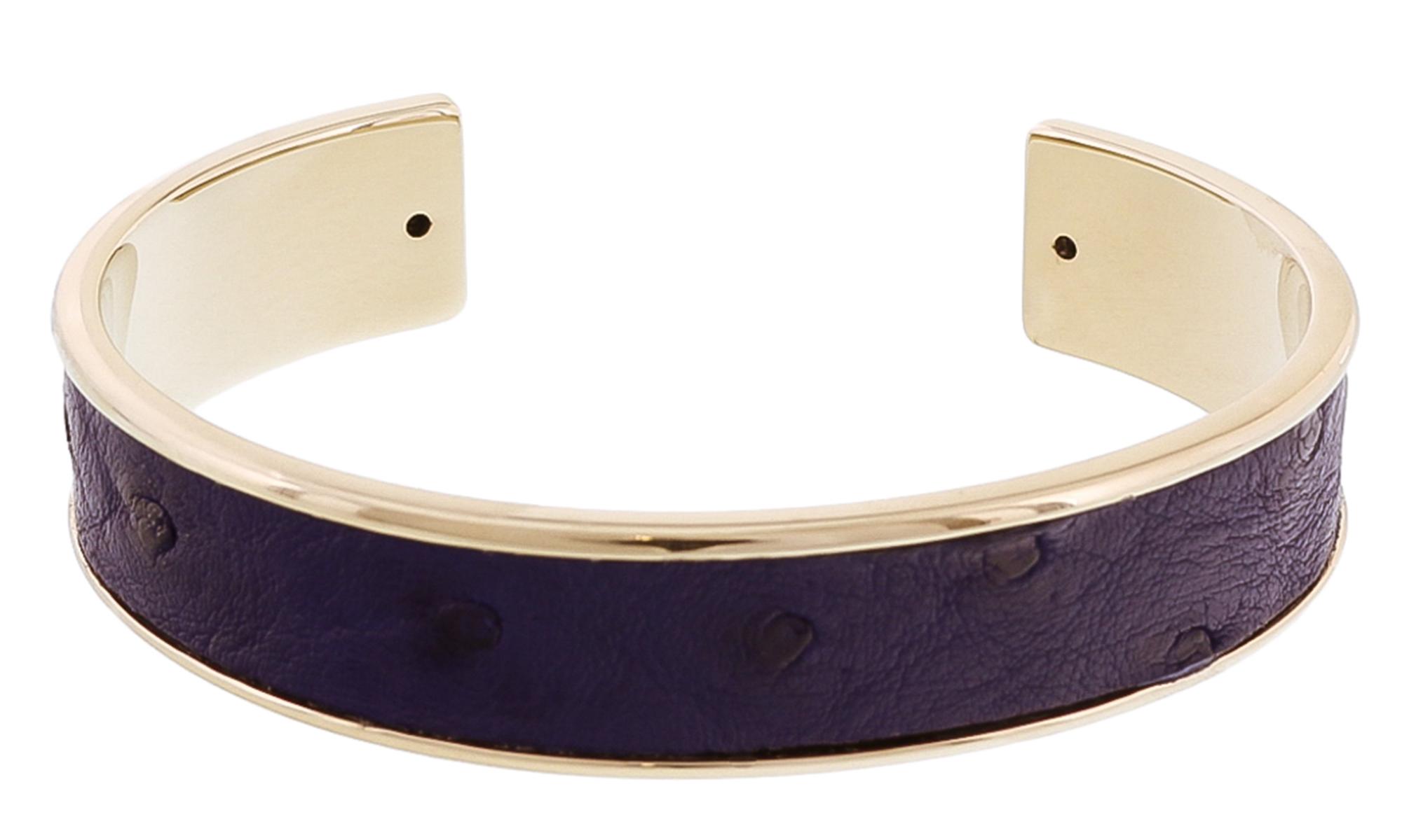 Stamerra MEMAN STRUZZO MAR Navy Genuine Ostrich Bracelet