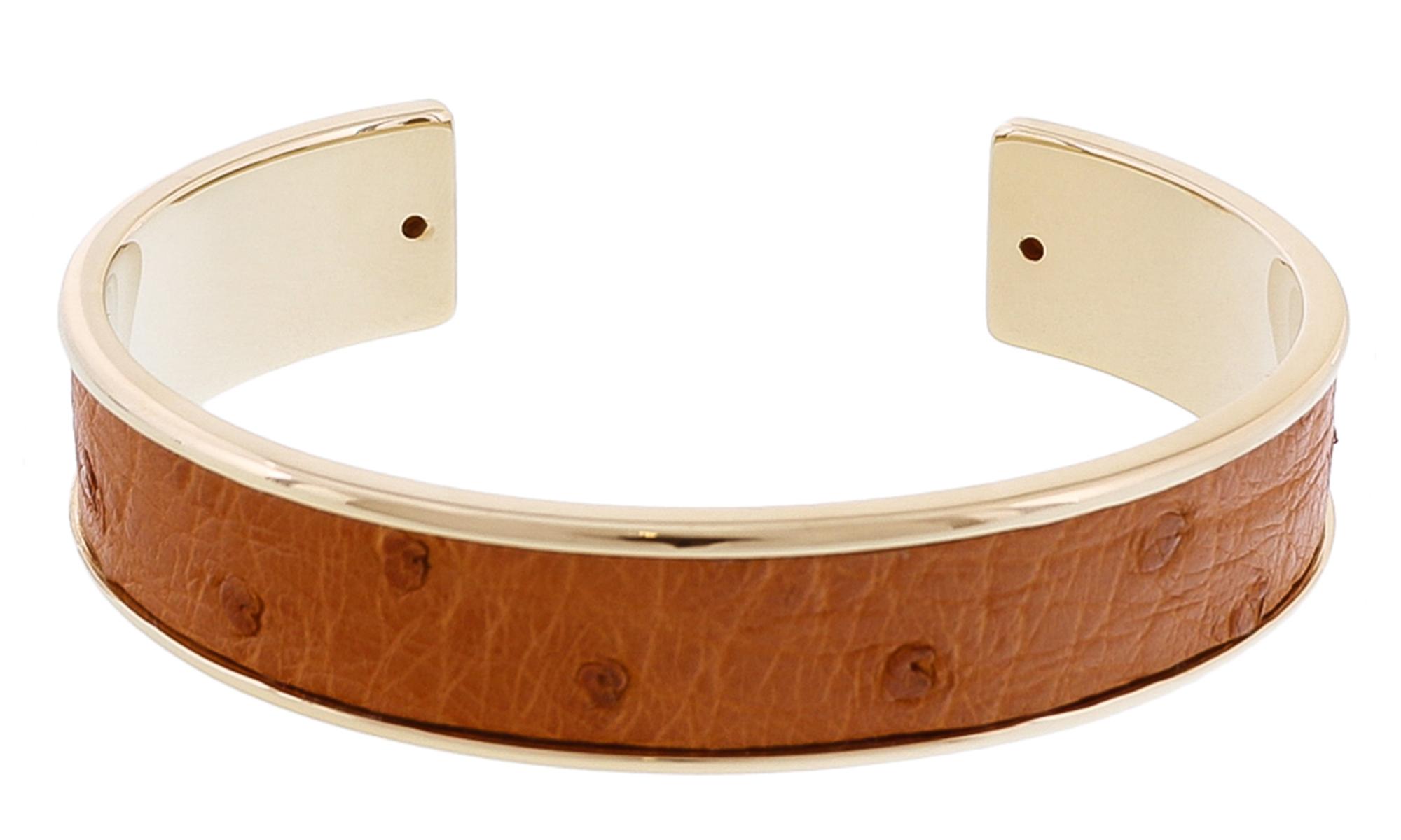 Stamerra MEMAN STRUZZO CU Tan Genuine Ostrich Bracelet
