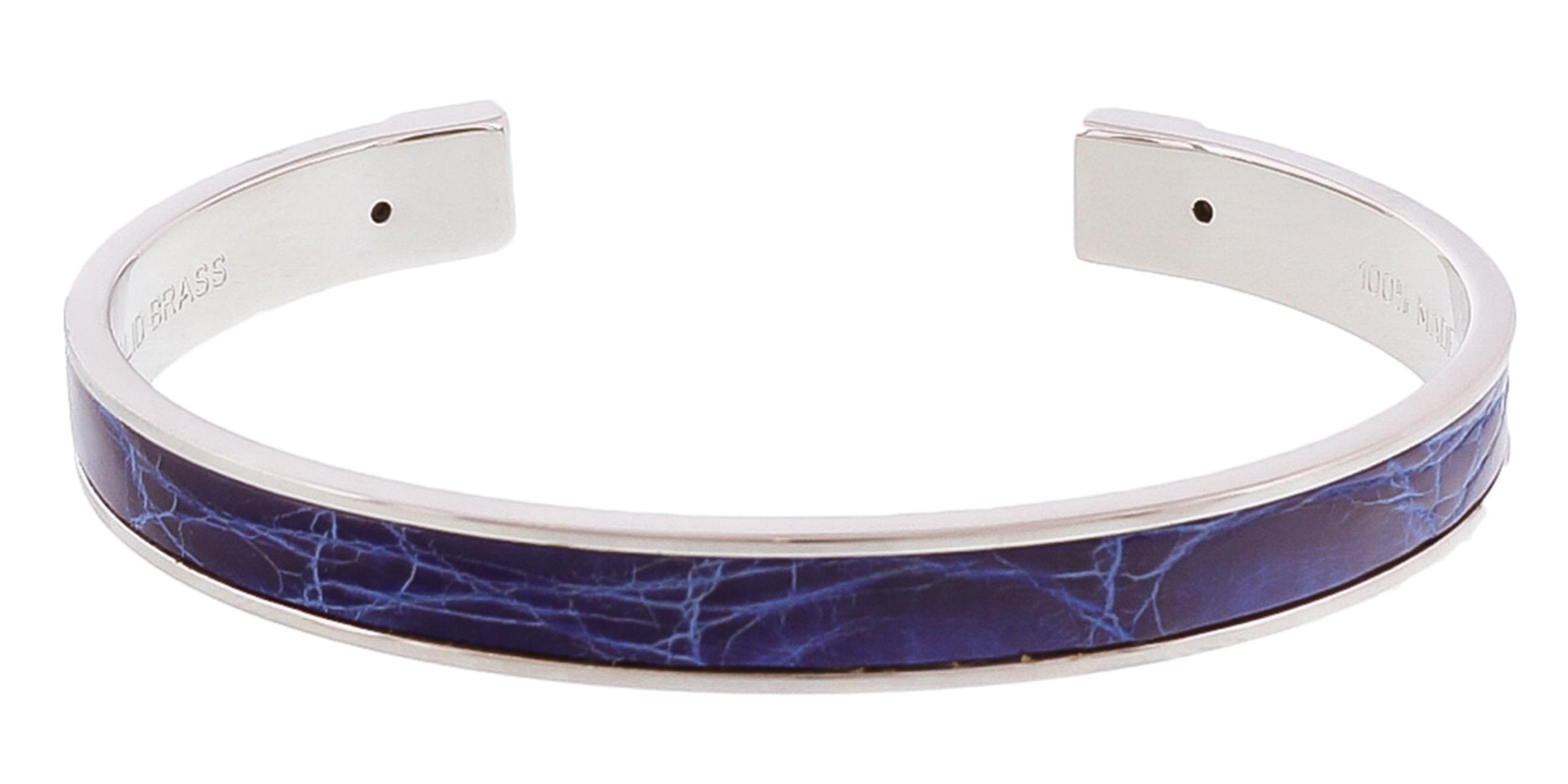 Stamerra PICCOLO CROCCO BLU  Blue/Silver Genuine Crocodile Bracelet