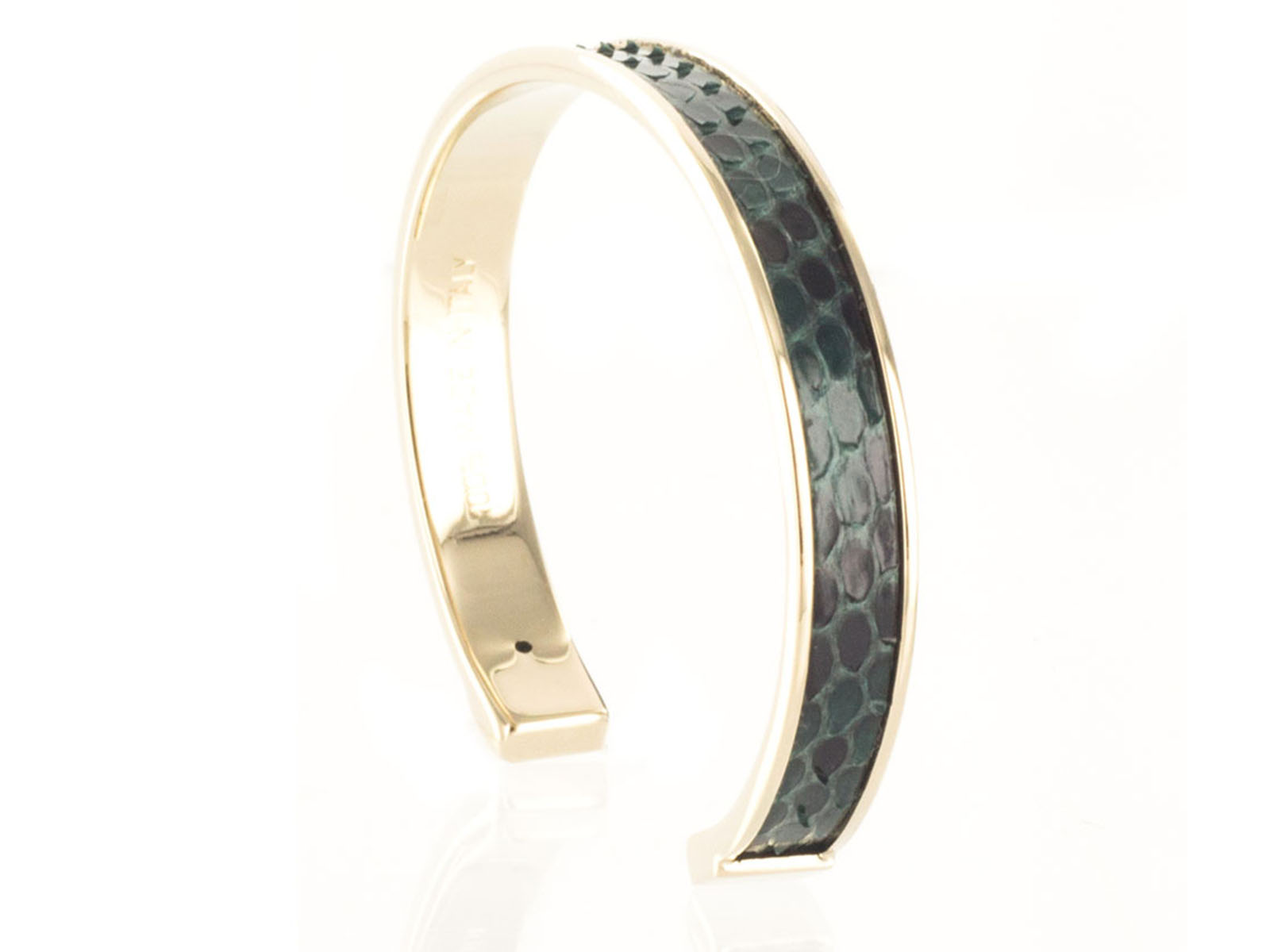 Stamerra PICCOLO PITTONE VR Forest Green Genuine Python Bracelet