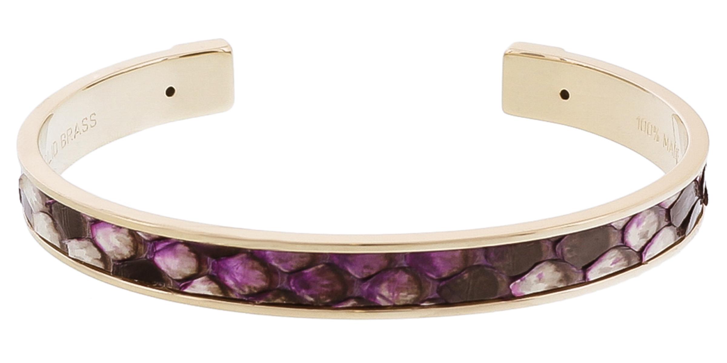 Stamerra PICCOLO PITTONE VIO Purple Genuine Python Bracelet