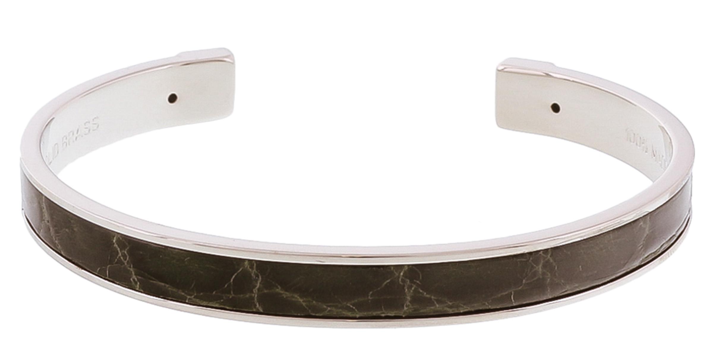 Stamerra PICCOLO CROCCO VR Forest Green Genuine Crocodile Bracelet