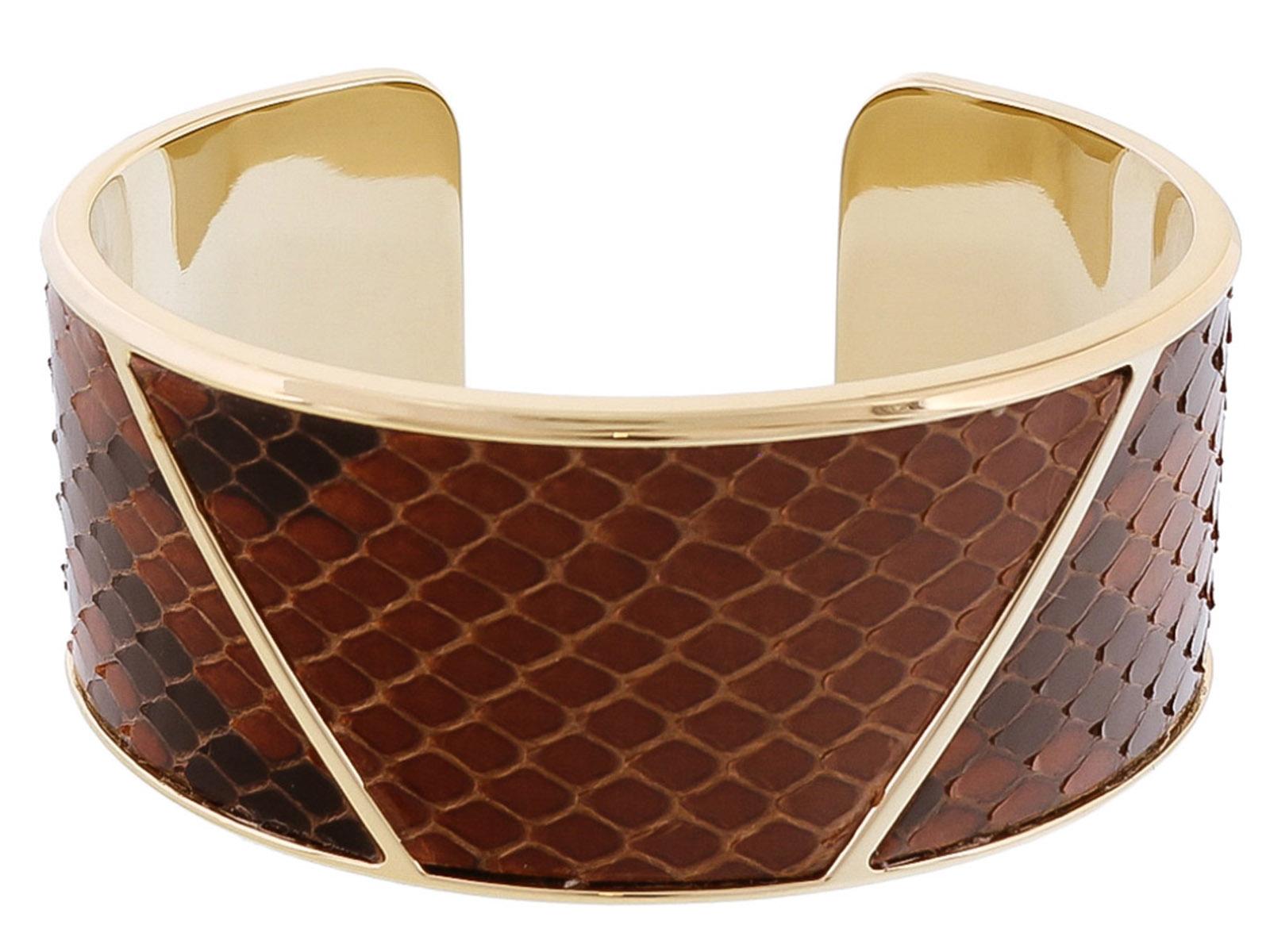 Stamerra PITTONE MORO Brown Genuine Python Bracelet