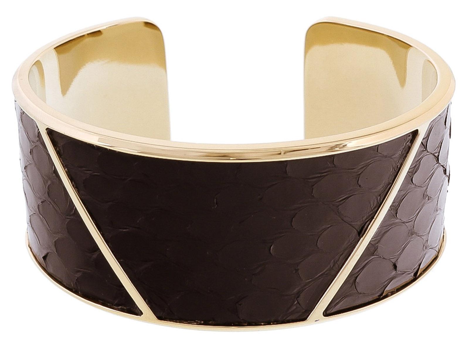 Stamerra PITTONE NERO Black Genuine Python Bracelet