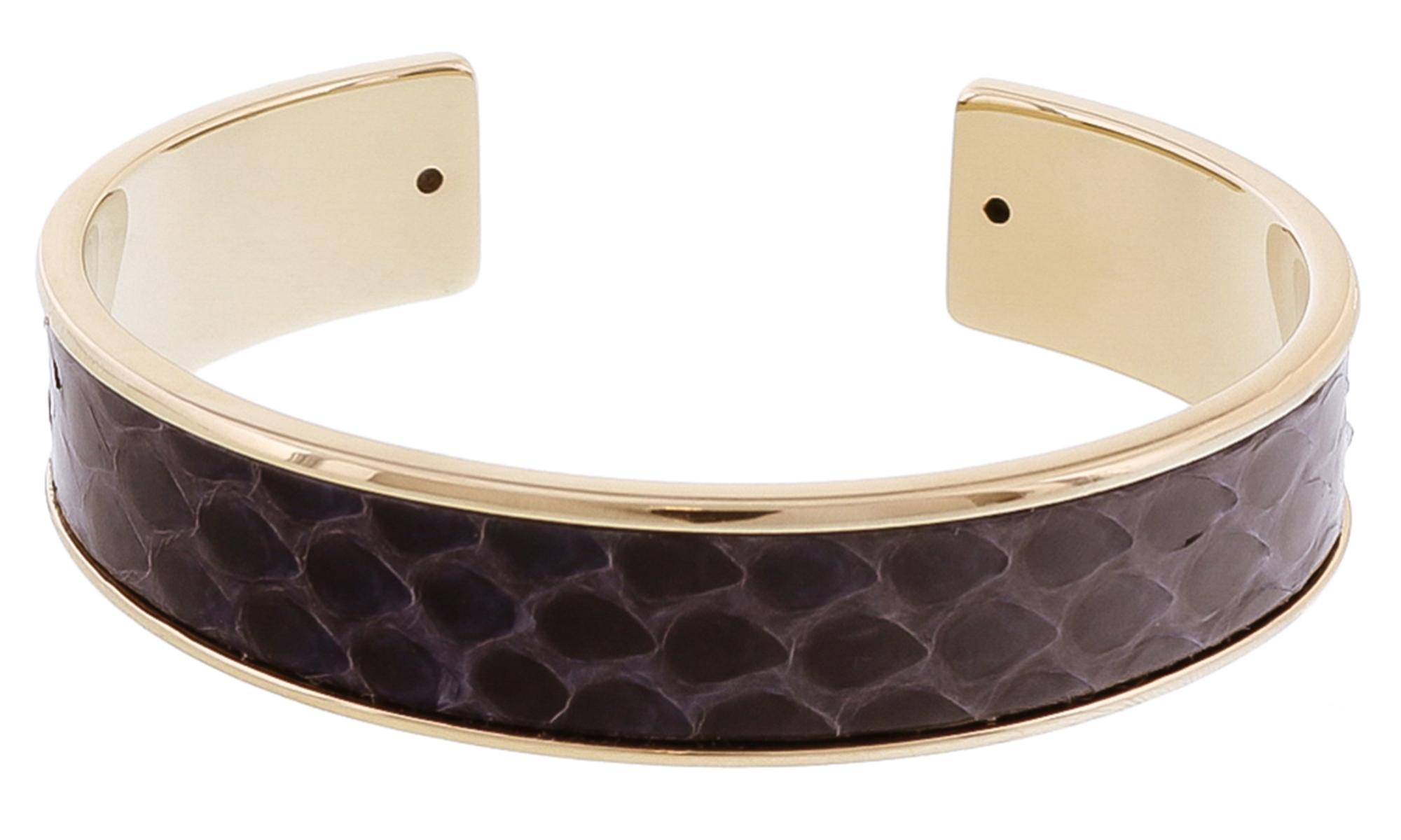 Stamerra MEMAN PITTONE MAR Navy Genuine Python Bracelet
