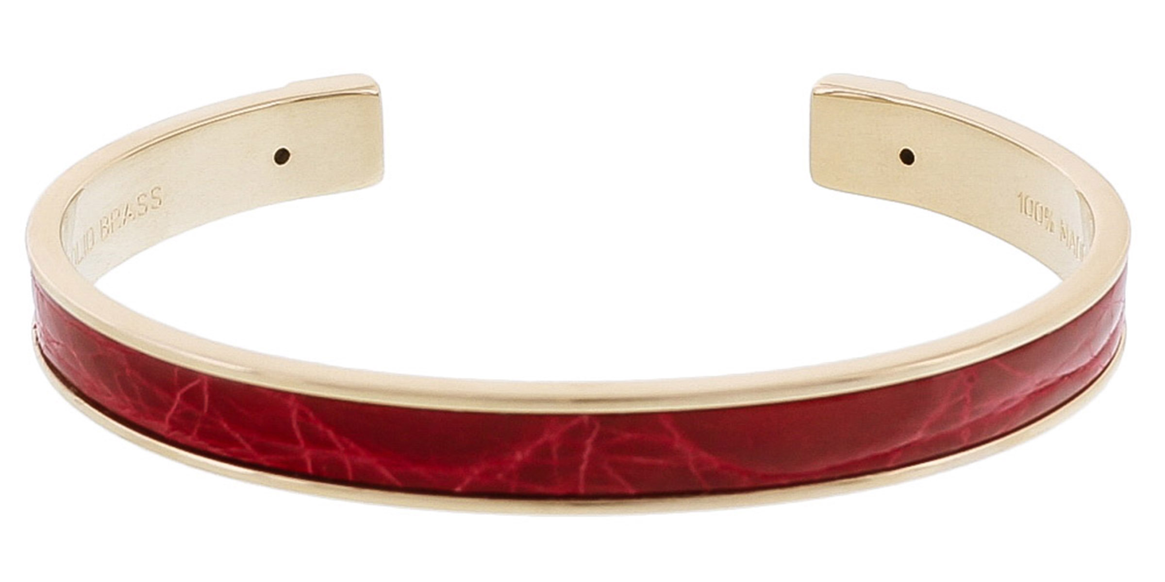 Stamerra PICCOLO CROCCO RO Red Genuine Crocodile Bracelet