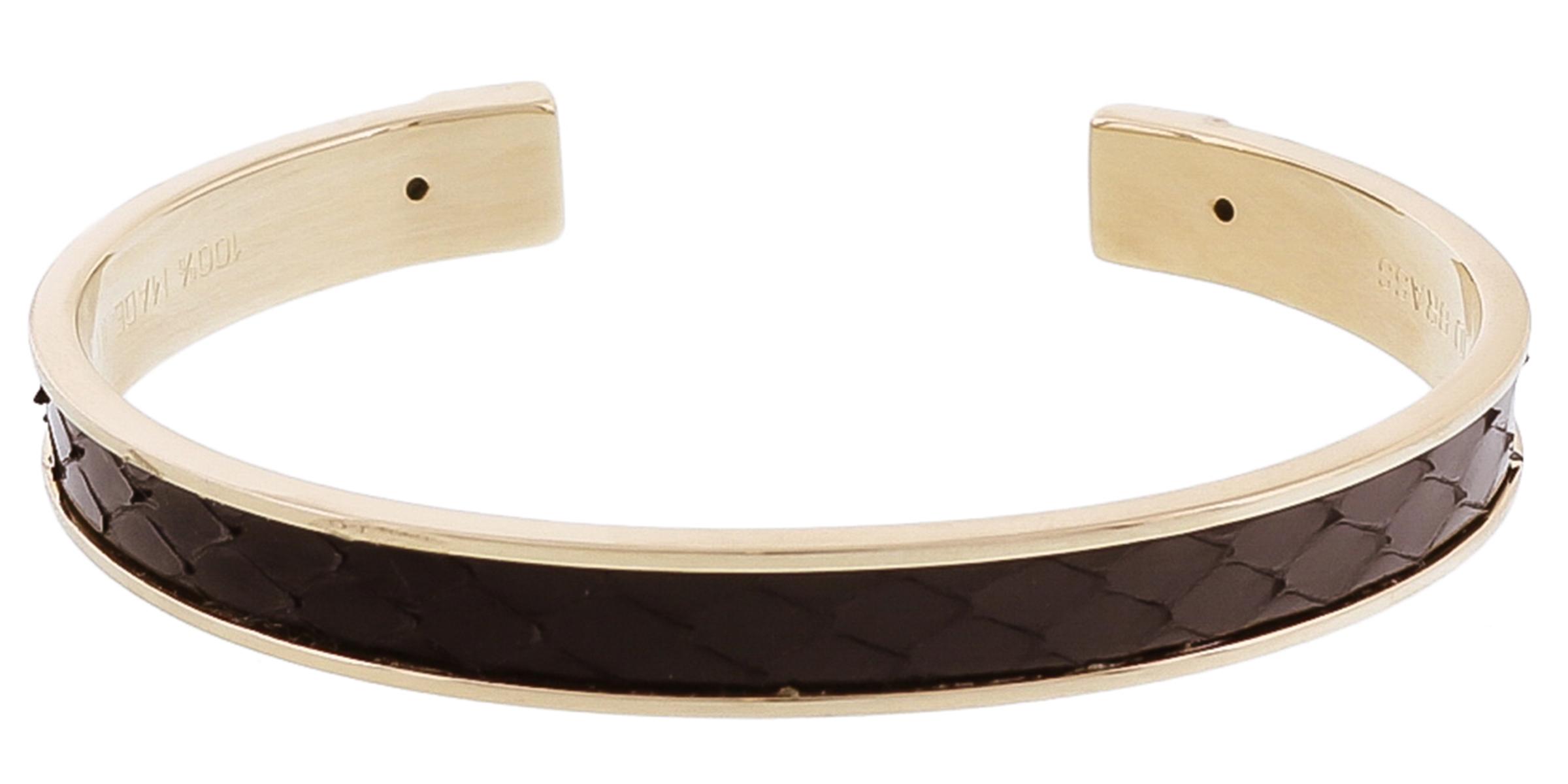 Stamerra PICCOLO PITTONE NR Black Genuine Python Bracelet