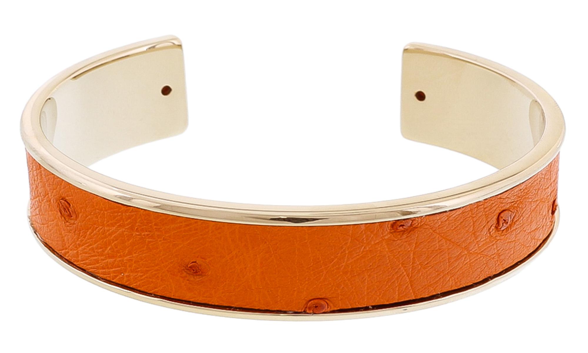 Stamerra MEMAN STRUZZO NAR Orange Genuine Ostrich Bracelet