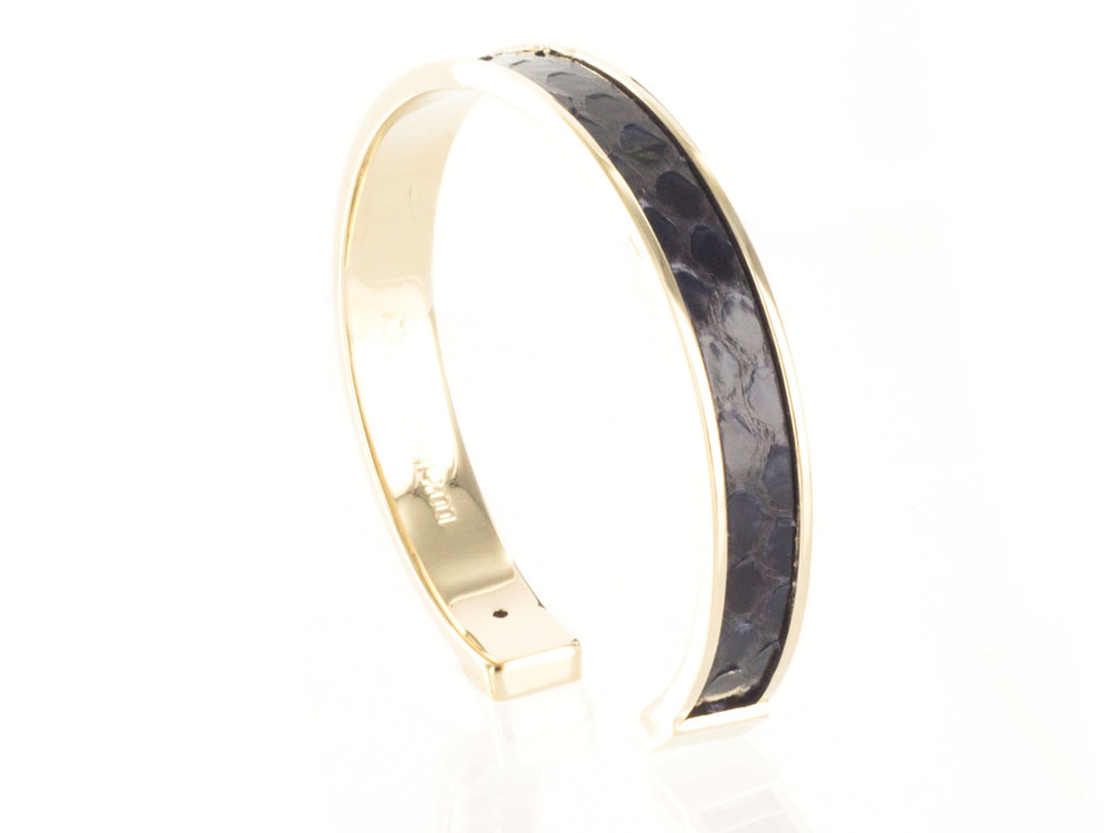 Stamerra PICCOLO PITTONE MAR Navy Blue Genuine Python Bracelet