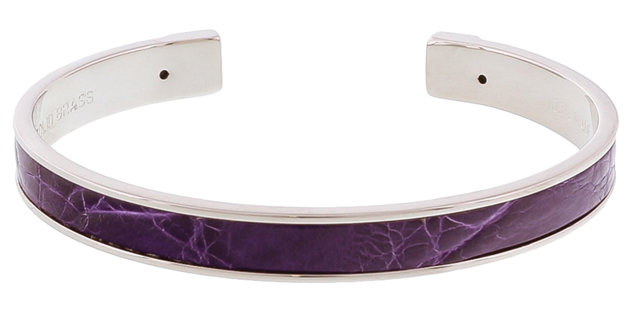 Stamerra PICCOLO CROCCO PUR Purple Genuine Crocodile Bracelet