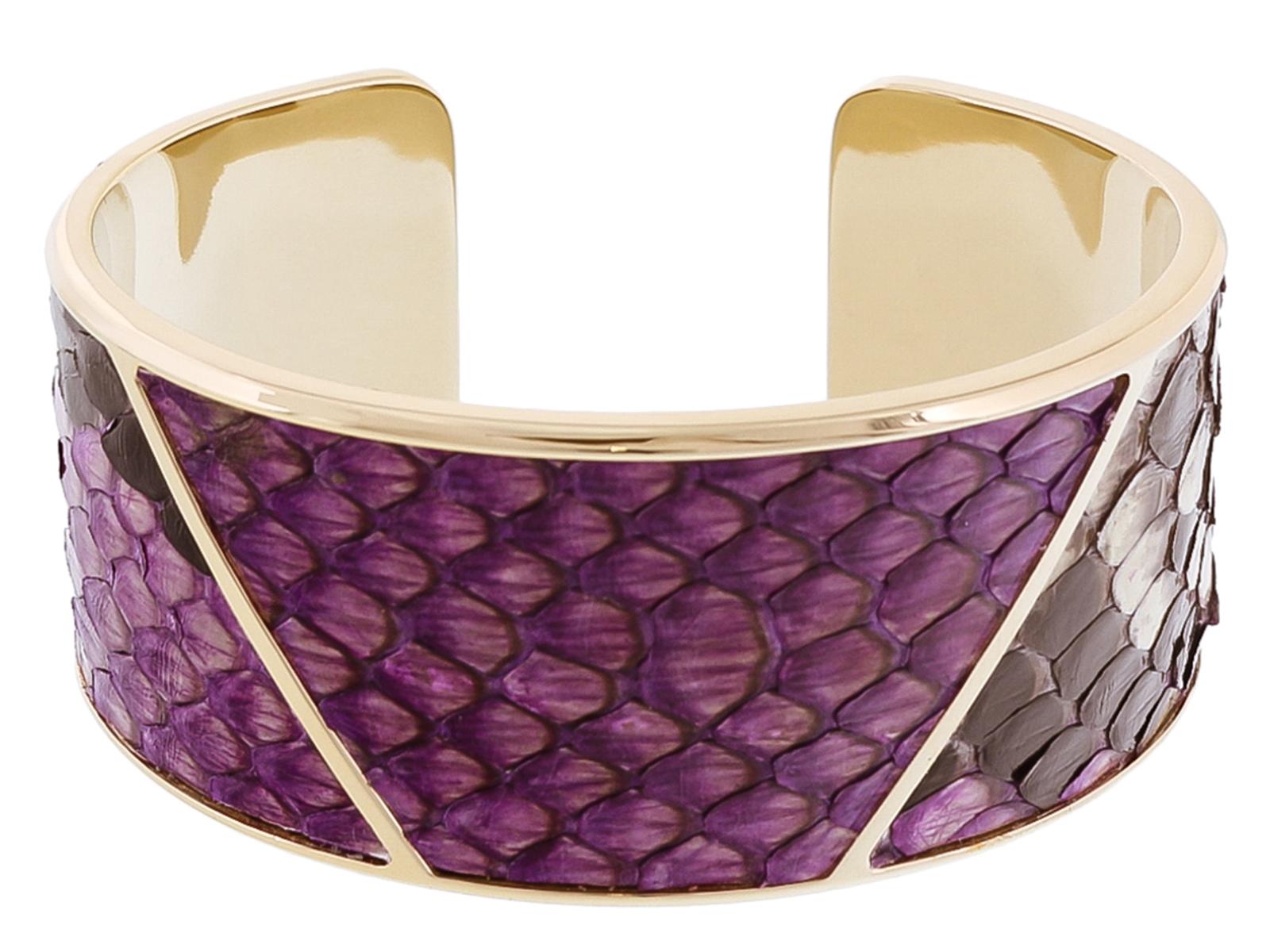 Stamerra PITTONE VIOLA Purple Genuine Python Bracelet