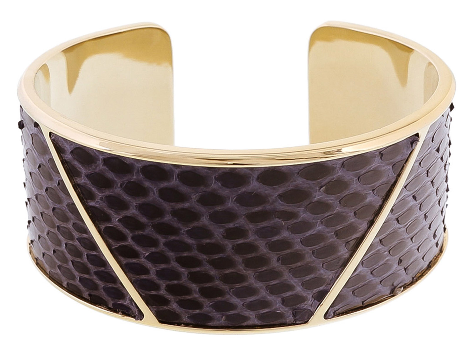Stamerra PITTONE MARINO Navy Blue Genuine Python Bracelet
