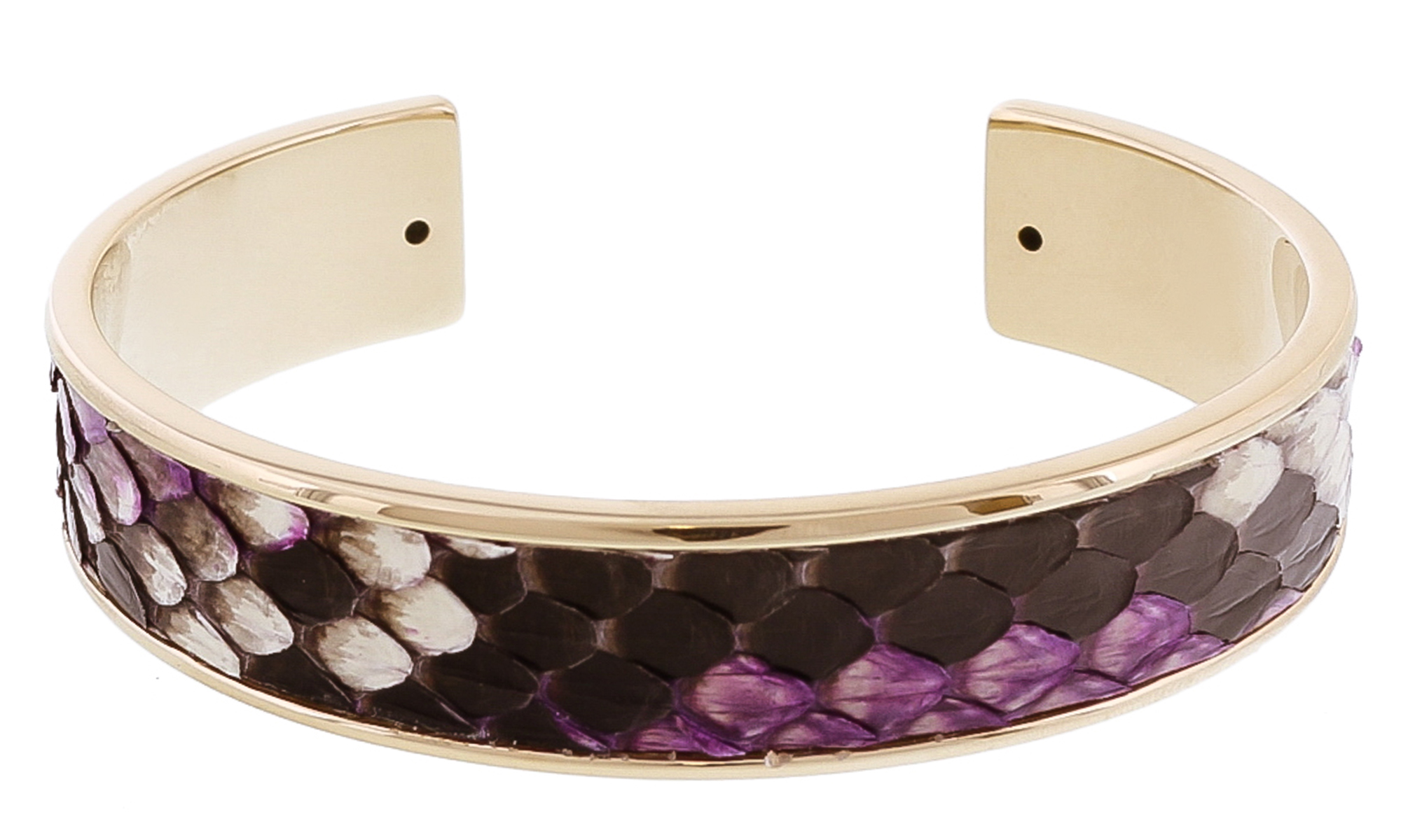 Stamerra MEMAN PITTONE VIO Purple Genuine Python Bracelet
