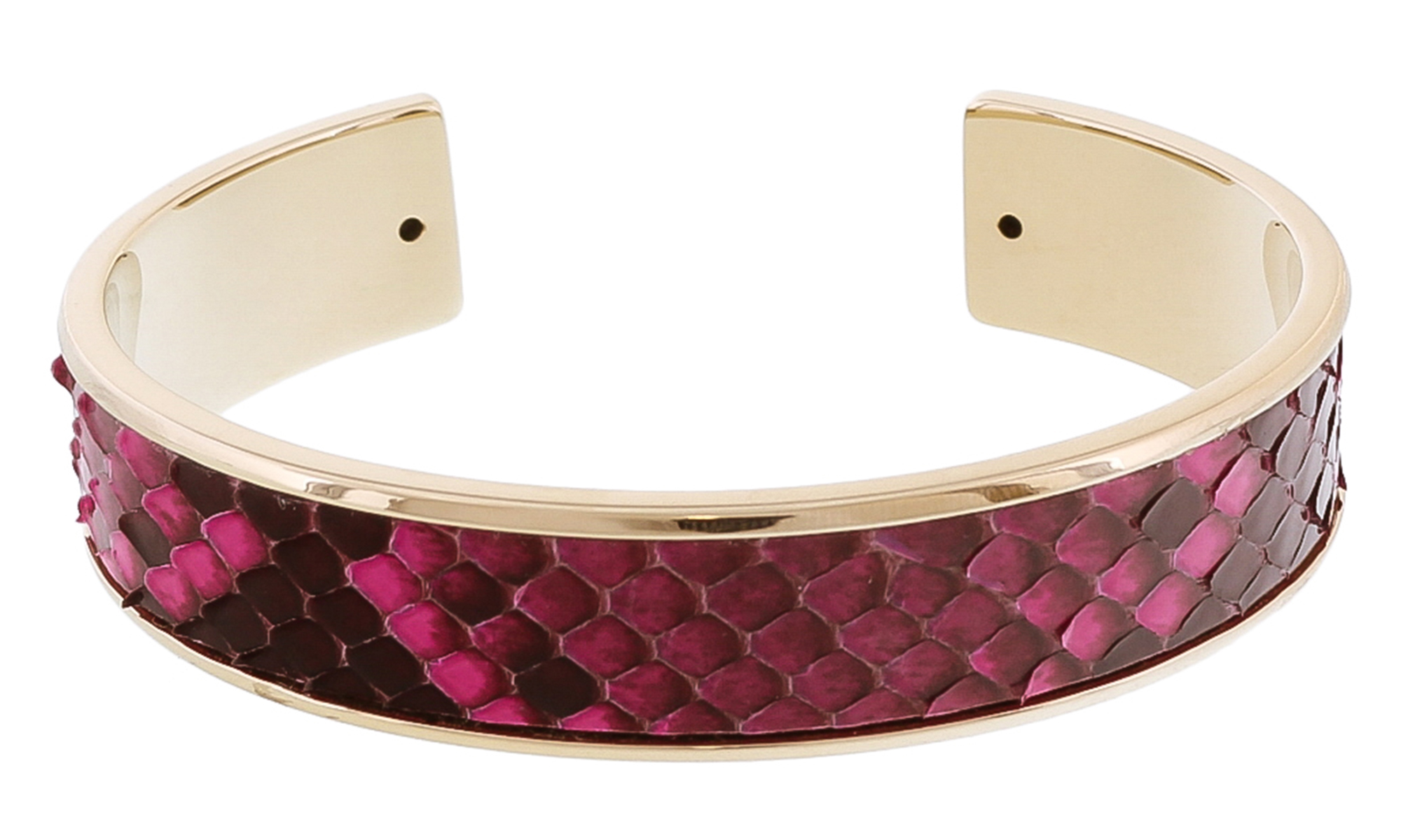 Stamerra MEMAN PITTONE FU Fuschia Genuine Python Bracelet
