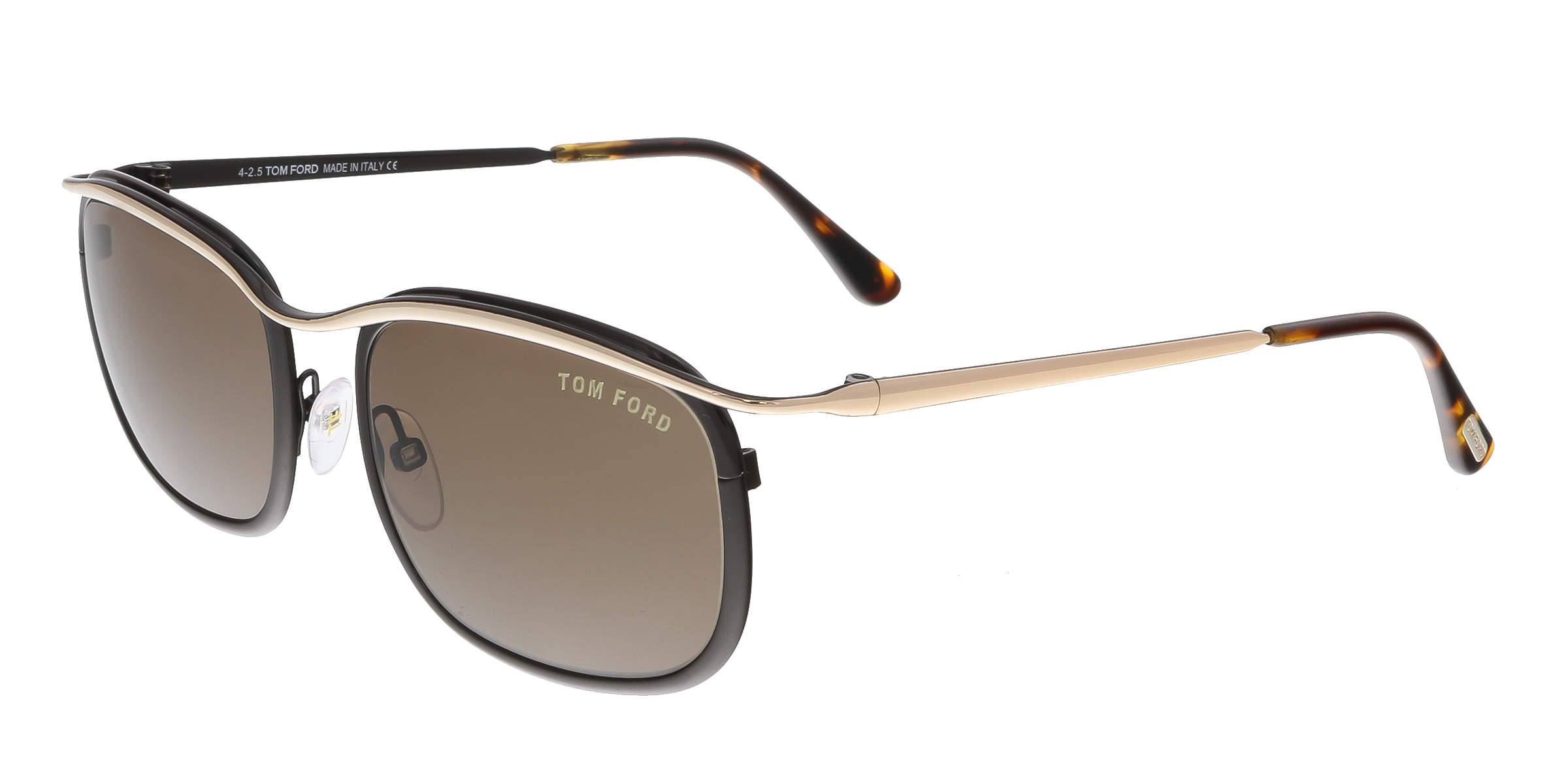 Tom Ford FT0419 50J MARCELLO Brown Rectangle Sunglasses
