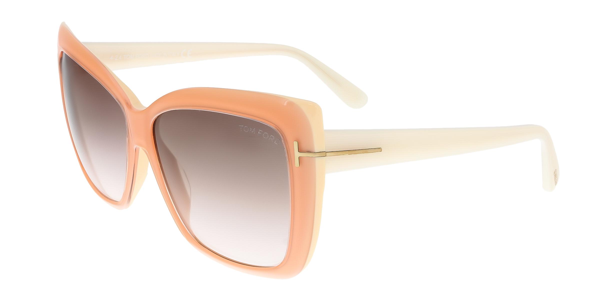 Tom Ford FT0390 44F IRINA Peach Square Sunglasses