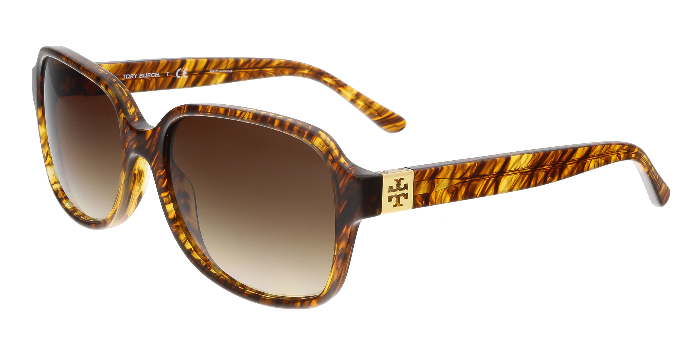 Tory Burch TY7098 161513 Brown Rectangle Sunglasses