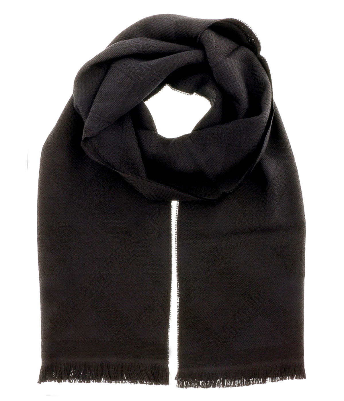 Versace IT00632 NERO Black 100% Wool Mens Scarf