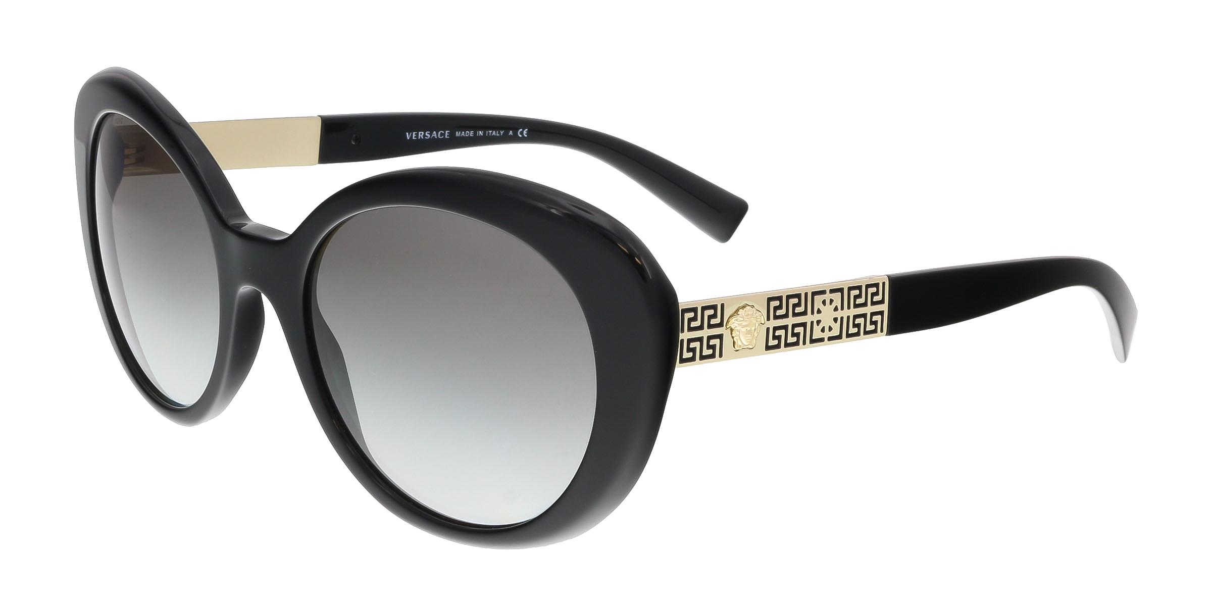 Versace VE4318 GB1/11 Black Oval Sunglasses
