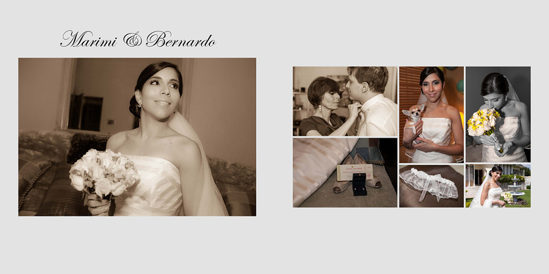 Sample Wedding Album Design - 12 pages/24 sides - Page 1