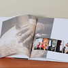 Each pages are thin, magazine like. pages can either be Matte, Vernis, or Glossy. (Glossy is shown).