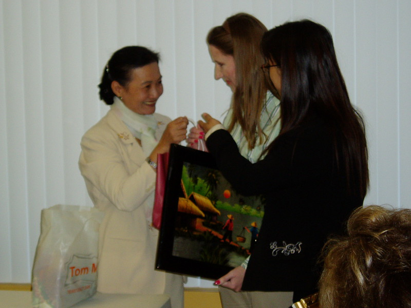 Presentation of gifts to Bonnie.