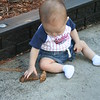 Matthew  Wow, a leaf!  And whats this cool, rough texture I'm sitting on?