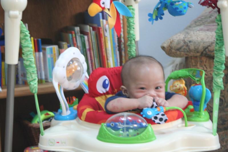 Matthew loving the jumper.