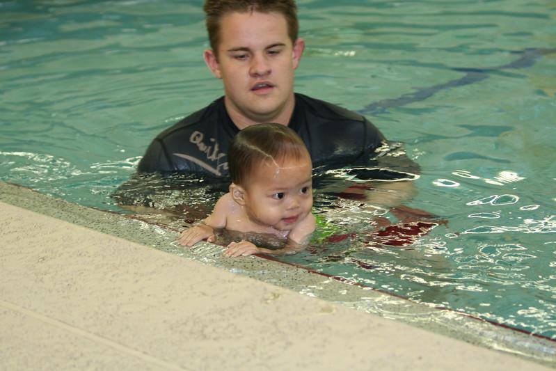Still having fun in the pool.