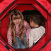 Jilly and Nicholas playing in the dog tunnel.
