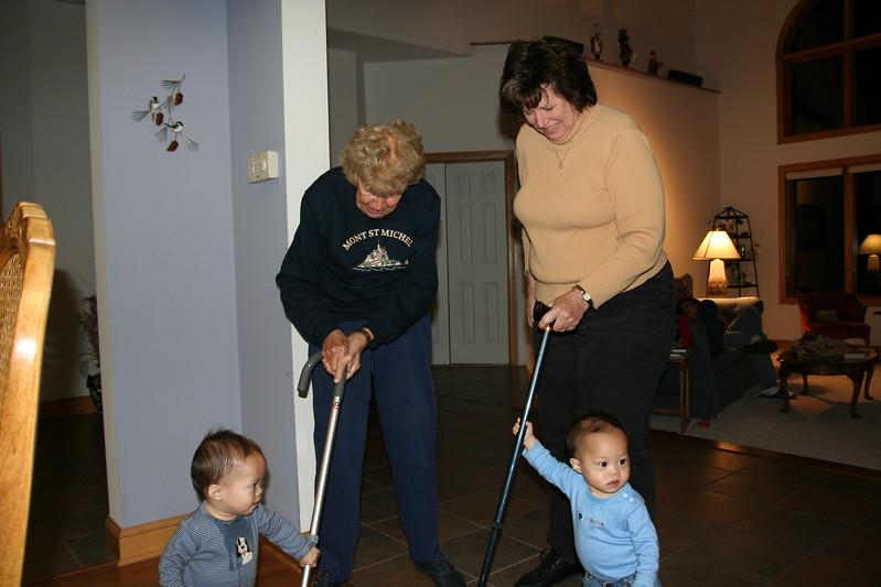 Come on grandmas!  Let's go! Let's go!