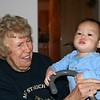 Nicholas with GG.  (GG is Great-Grandma.)