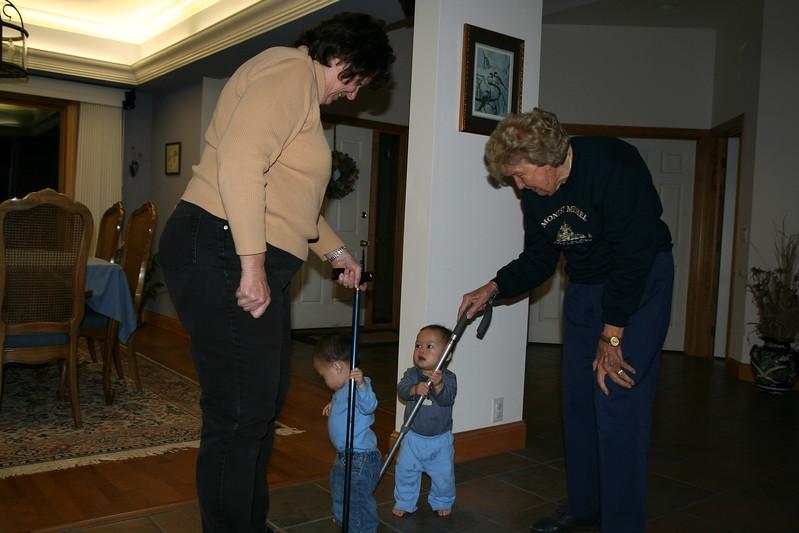 Dueling Grandmas!
