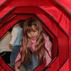 Jilly in the tunnel.