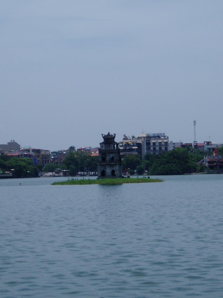 Pagoda in Hoan Kiem Lake