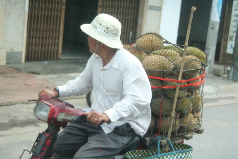 Moped Hauling Cargo