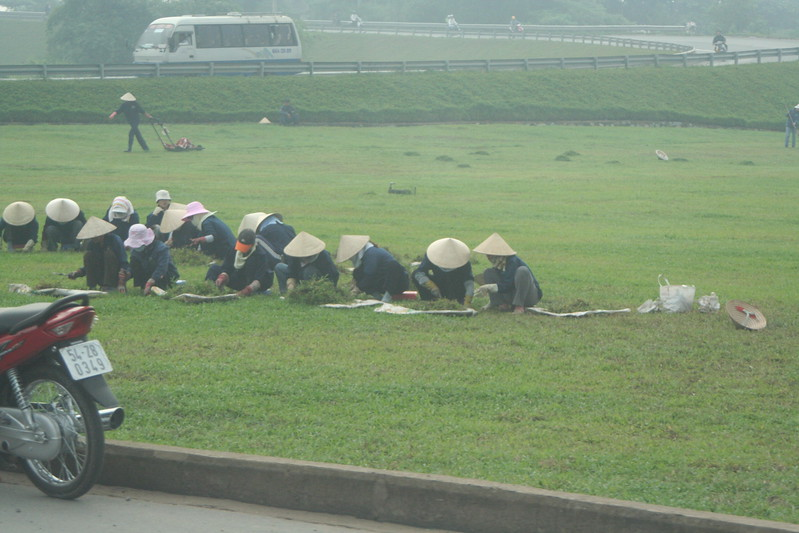 Workers on the Roadside