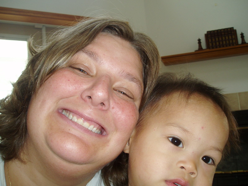 Mommy and Nicholas.