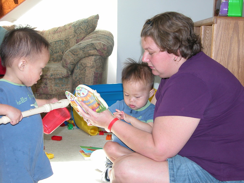 More story time with Mommie.