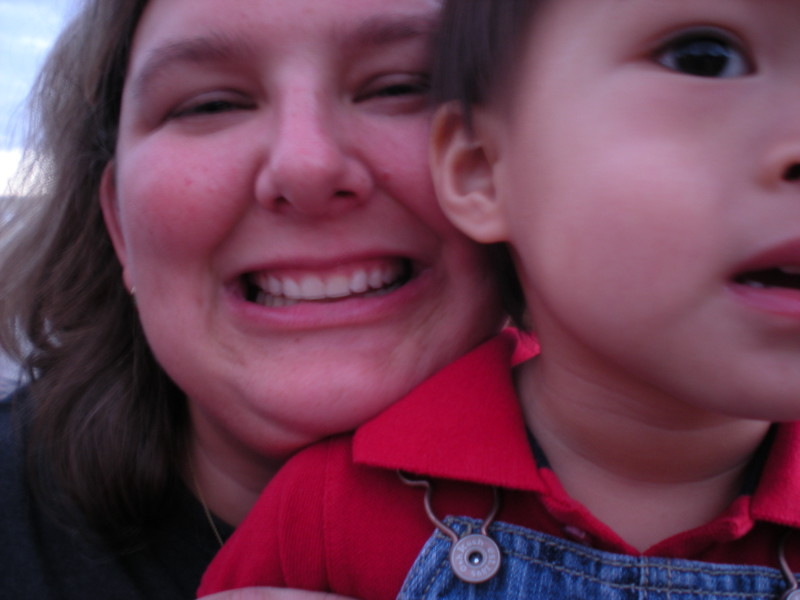 Mommy and son at Magic Kingdom.