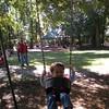 Nicholas swinging.