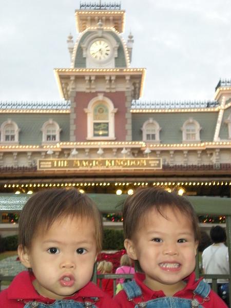 The boys at Magic Kingdom.