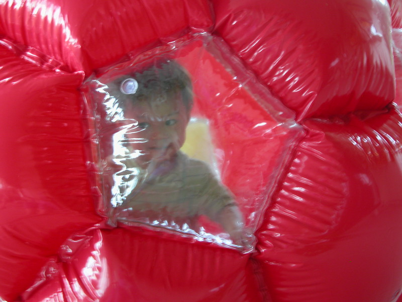 Nicholas in the mega-ball.
