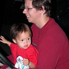 Matthew and Daddy driving.