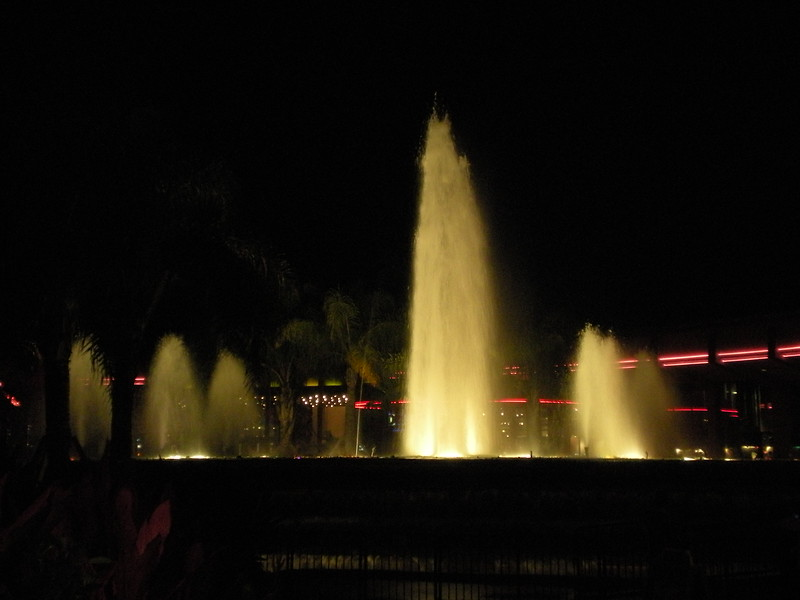 Epcot fountain.