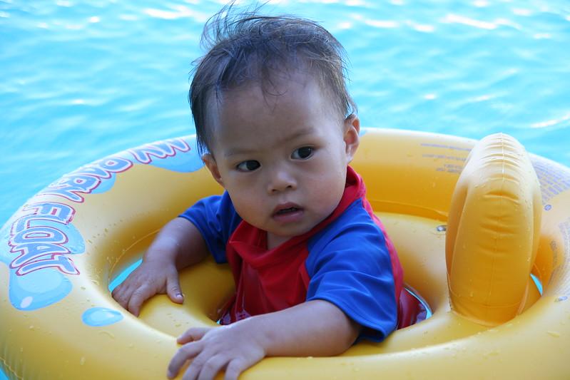 Matthew floating away.