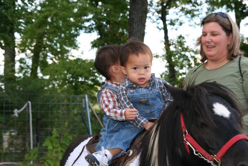 Both on the pony.