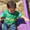 Nicholas on the slide.